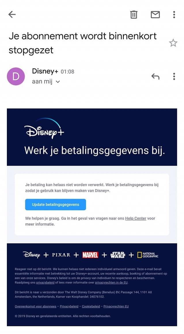 disney email