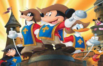 mickey, donald, goofy the three musketeers, disney plus
