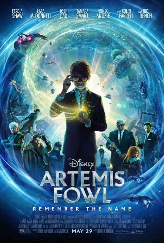 artemis fowl, disney plus, 3 april 2020-