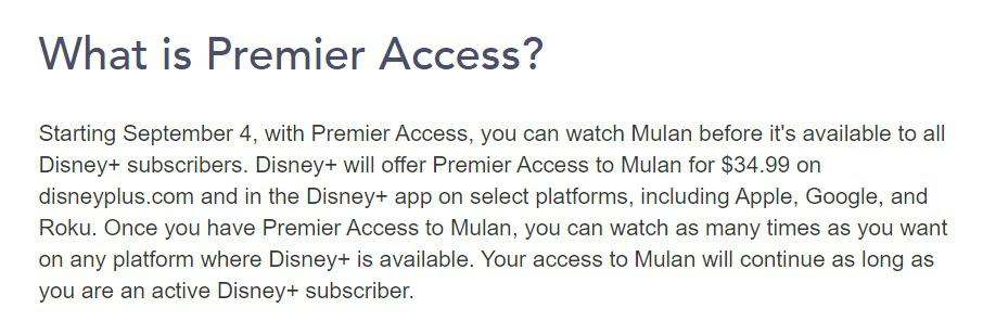 premier access, disney, mulan