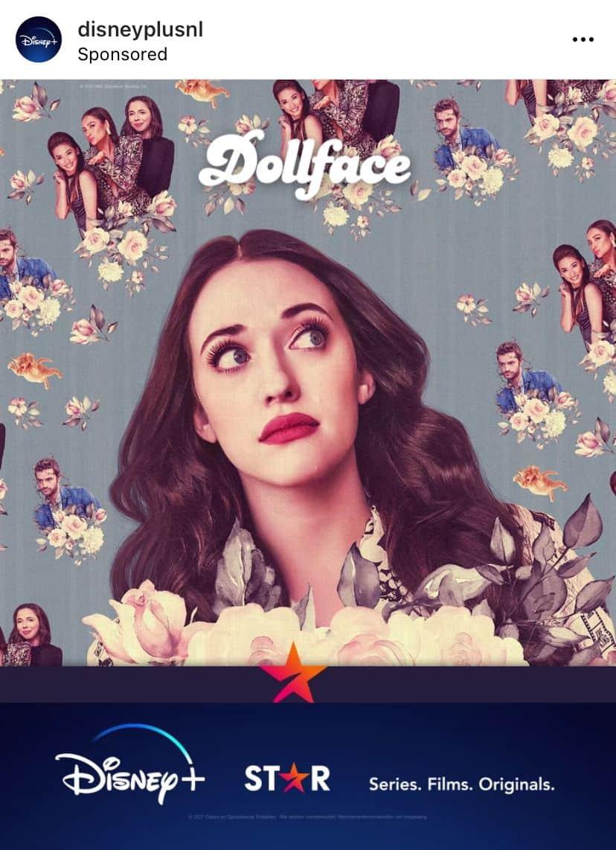 dollface disney plus nederland